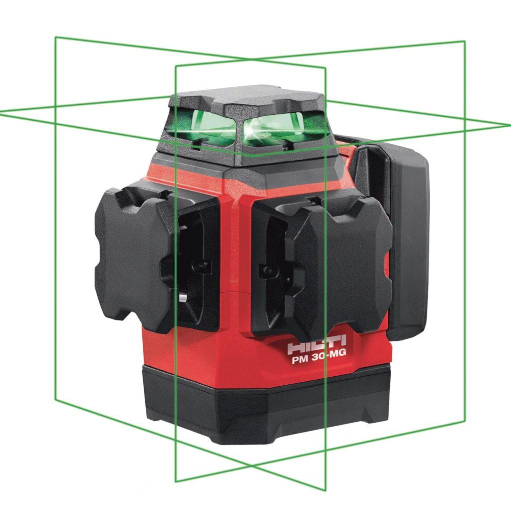Novinka Multiliniový laser 3x360° stativ, detektor, magnetické držáky